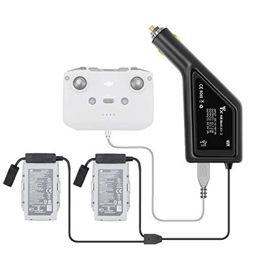 LYONGTECK 3-in-1-Akku-Kfz-Ladegerät für DJI Mavic Air 2 und Fernbedienung, lädt 2 Batterien, 12 V tragbares Multi-Schnelllade-Hub-Zubehör