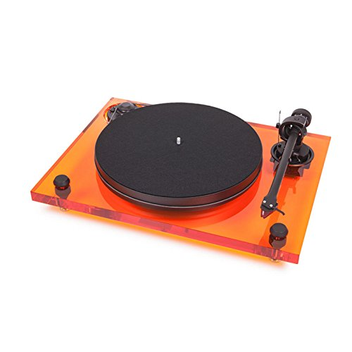 Pro-Ject 2-Xperience Primary Acryl, Audiophiler Plattenspieler mit Acrylchassis (Orange)