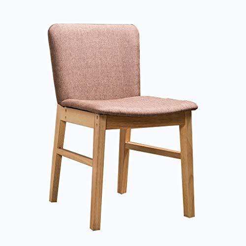 Esszimmerstühle, Küche, Esszimmerstühle, Teeshop, Café, Zuhause, Freizeit, Computer, Schlafzimmer, Leinen, Rückenlehne für Küche (Farbe: Rosa)