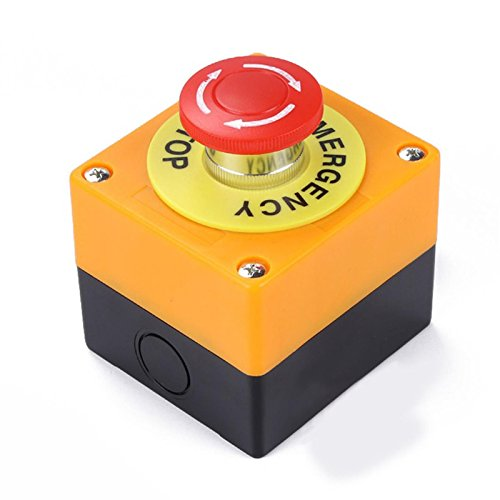 1NO 1NC 10A 660V Not-Stop Druckknopf, Roter Pilzkopf-Schalter