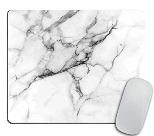 Marble Mousepad White Marble Print Mouse Mat Mouse Pad Office Mousemat Mousepads with Design Desk Accessory Office Gift