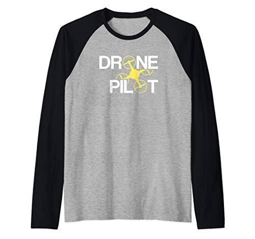 Piloto de Drones Camiseta Manga Raglan
