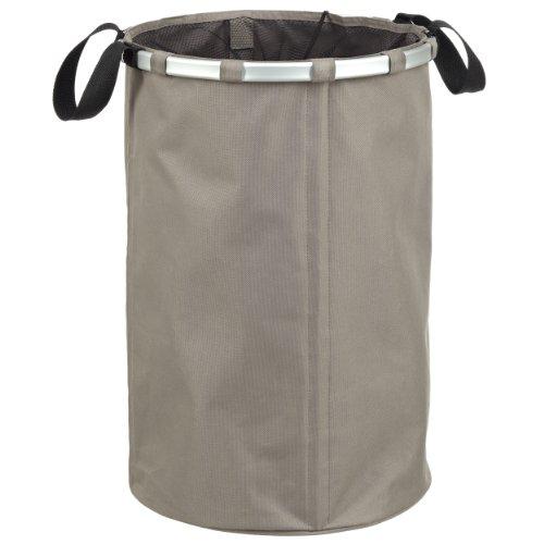 LOMOS formstabiler trendiger Wäschekorb in grau mit 75L Fassungsvermögen
