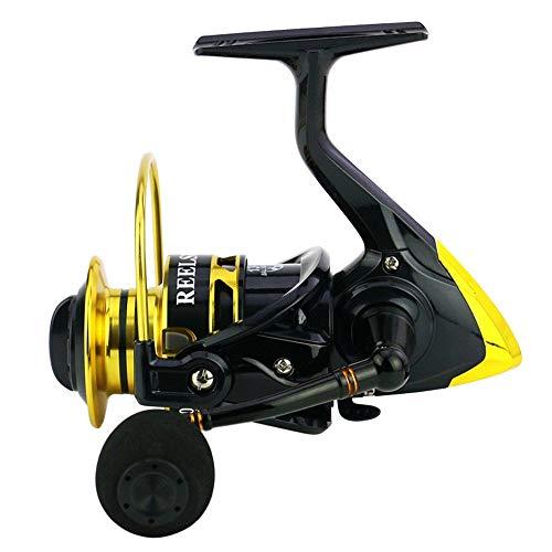 ZDAMN Carrete de Pesca Spinning Pesca Carretes Izquierda Derecha Intercambiable/Pesca Spinning Carretes Ligera Lisa Carrete de Pesca para Exterior (Color : Black, Size : 5000)