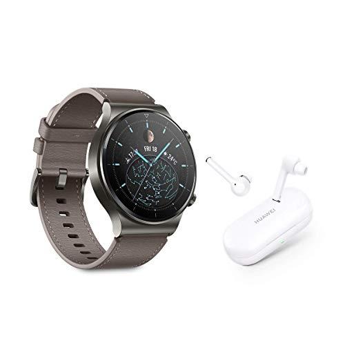 """HUAWEI Watch GT 2 Pro + FreeBuds 3i - Smartwatch con Pantalla AMOLED de 1.39"""", hasta Dos semanas de batería, GPS y GLONASS, SpO2, +100 Modos de Entrenamiento, Llamadas Bluetooth,"""