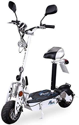eFlux Street 20 Elektroroller Scooter - 500 Watt Motor - Scheibenbremsen - LED Scheinwerfer - Straßenzulassung (Weiß)