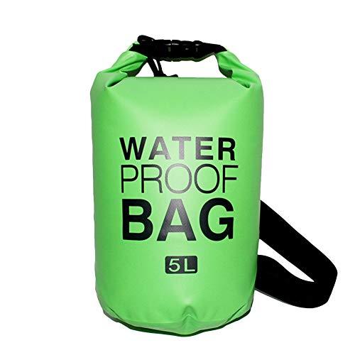 Icegrey Bolsa Estanca Seca Impermeable Flotante para Playa y Deportes al Aire Rafting/Kayak/Canotaje/Senderismo/Esquí/Pesca/Escalada/Camping/Pesca Pasto Verde 2L