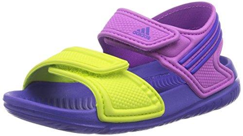 adidas Jungen Akwah 9 Lauflernschuhe, Mehrfarbig (Flash Pink S15/Night Flash S15/Semi Solar Yellow), 27 EU