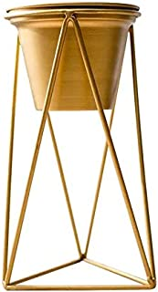 Gold color metal flower pot with Stand small size-33x23x8cm
