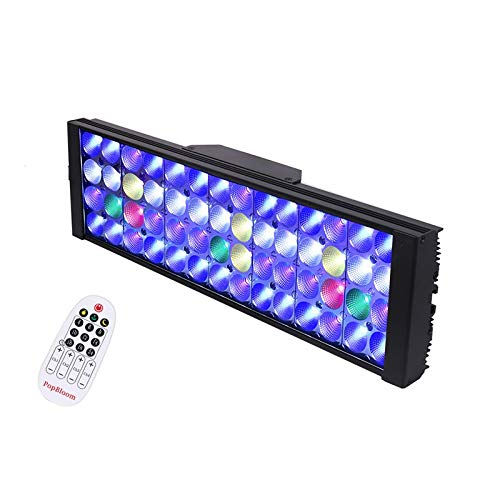 Htipdfg Luzces para acuarios Iluminación de la lámpara LED Acuario Marino luz del filón Acuario Llevado iluminación del Acuario de Agua...