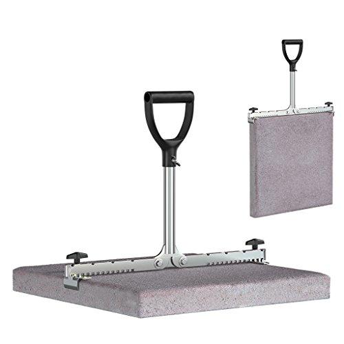 LANGFIT® Plattenheber - Rückenfreundlich durch extra langen Griff - 30 bis 50cm - Schonend für Rücken und Hüfte! Tragkraft bis 60kg - Made in Germany - MS-PH2050L