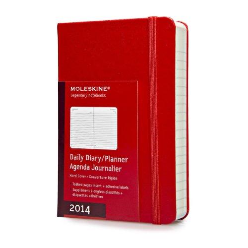 Moleskine Klassischer Tageskalender 2014 / Pocket / Fester Einband / Rot (Planners & Datebooks)