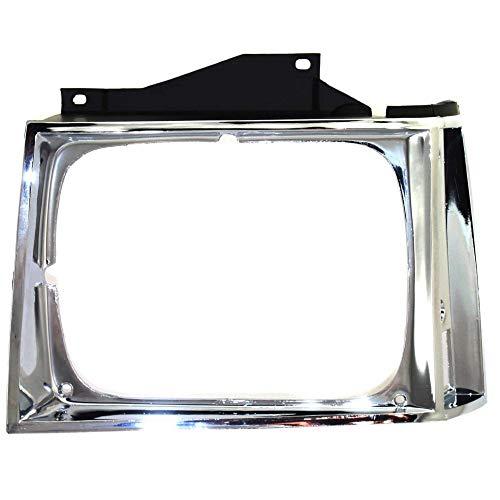 Evan-Fischer Headlight Door compatible with Chevrolet S10 Pickup 82-90 Chrome Left Side