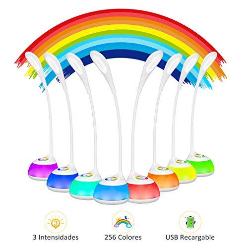 Lampara LED Escritorio Infantil USB Recargable 2000mAh,