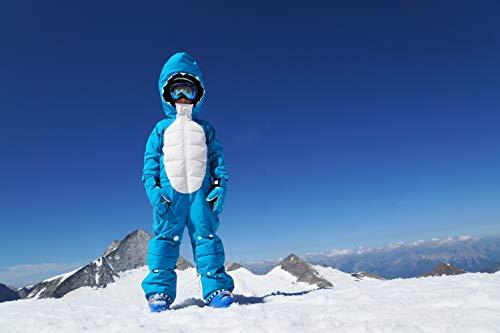 WeeDo funwear Kinder Shark Schneeanzug, Ozeanblau, 4-6 Jahre