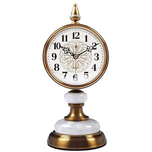 NBVCX Furniture Decoration Mantel Clock Living Room Desktop Silent Craft Clock Decoration Metal Copper Bedroom Bedside Clock Decoration Mantel Office Desk Shelf & Home Gift (Color : D)