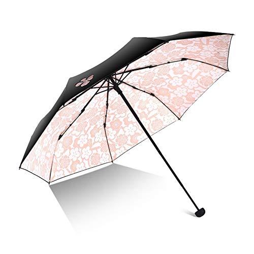 Regenschirme Marken-Frauen-Regenschirm-Mädchen Anti-UV Folding Modish Blumen beweglichen weiblichen UV-Schutz wasserdicht und regensicher Regenschirme Winddichtes Schwarz Parasol Qualität Parapluie