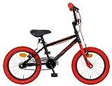 AMIGO Extreme - Freno de llanta para niños BMX de 16 pulgadas, 25,4 cm, color negro y rojo