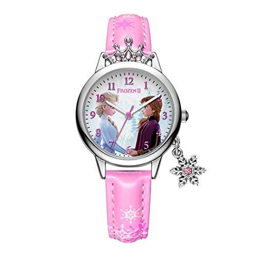 ZZTX FASHION Jungs Mädchen Kinder Analog Quartz Uhr mit Lederriemen Wasserdicht Sport Armbanduhren Cartoon-Uhr, B