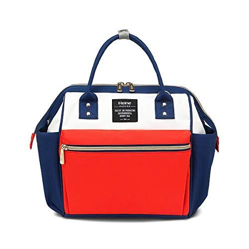 SONARIN Multifunktionale Baby Windel Wickeltasche für das Reisen,Umhängetasche,Isolierte Taschen,Wasserdicht,Große Kapazität,Stilvoll und Langlebig(Rot/Weiss)