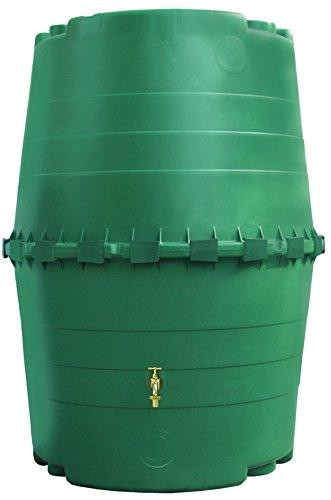 Exaco Trading Company 323001 Top Tank Commercial Rain Barrel-345 Gallon, 61.5' High (Consumer Friendly)