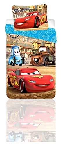 Disney Parure De Lit Baby Cars Lightning McQueen Housse DE Couette 90x140 100% Coton