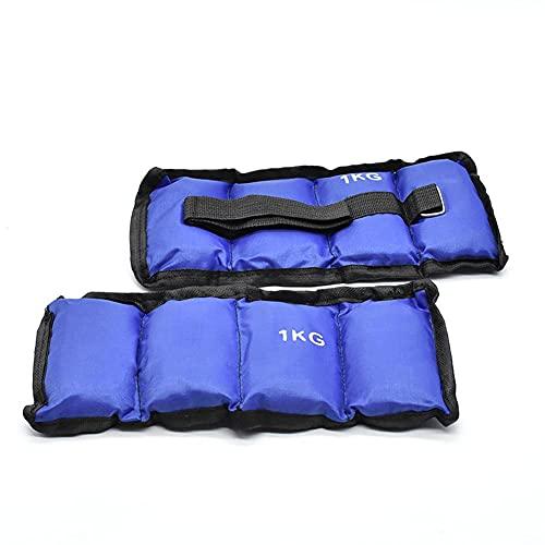 takestop® Coppia Pesi 1KG Totale (0.5kg cadauno) per Caviglie Polsi Sport Fitness CAVIGLIERE Palestra Judo Boxe Thai Step Danza Riabilitazione Colore Casuale
