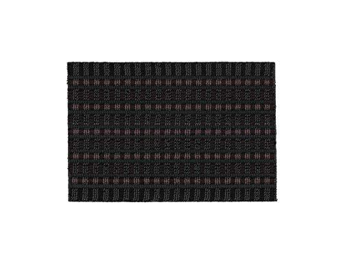 ASTRA Premium Außenbereich-Matte - Poly Brush - strapazierfähige Fußmatte - schwarz/weinrot - 40 x 60 cm