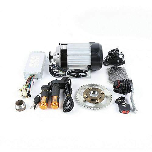 48V Motor de Conversión de Triciclo Eléctrico Kit de Motor sin Escobillas Engranaje con Controlador Motor de Accionamiento Profesional Motor Adaptado E-Triciclo E-Bike (500 W)