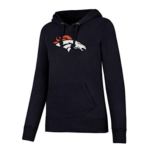 OTS NFL Denver Broncos Women's Fleece Hoodie, Logo, Medium