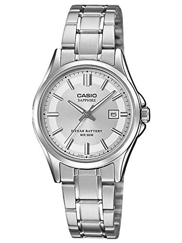 CASIO Damen Analog Quarz Uhr mit Edelstahl Armband LTS-100D-7AVEF