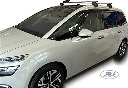 J&J Automotive - Deflectores de viento para Citroën C4 Grand Picasso, 5 puertas, 2013, 4 unidades