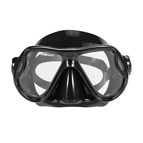 MHSHKS Máscaras De Buceo Máscara De Esnórquel Set De Snorkel Submarino Gafas De Snorkel Antiniebla Máscara De Natación Gafas De Buceo para Adultos (Color : Black)