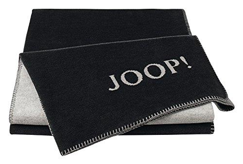 Joop!® Melange-Doubleface I flauschig-weiche Kuscheldecke Anthrazit-Silber I Wohndecke aus Baumwoll-Mischgewebe in Melange-Optik in 150x200cm | nachhaltig produziert in Deutschland I Öko-Tex