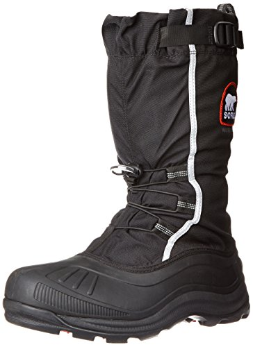 Sorel Men's Alpha Pac Extreme Snow Boot, Black/Red Quartz, 8 M US