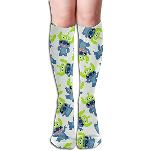 NHUXAYH Calcetines hasta la rodilla Stitch Meets Toy Story