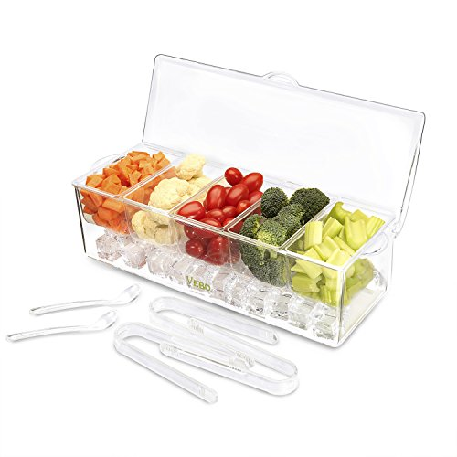 Ice Chilled 5-Compartment Condiment Server