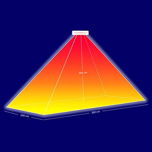 Infrarot Terrassenheizer Heizstrahler Terrassenstrahler WEISS - 7