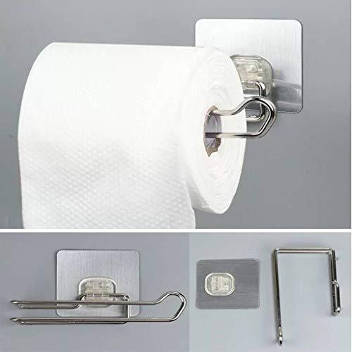 LANKOULI Tissue Box Punch-Free Papierhandtuchhalter Edelstahl Badezimmer Toilette Serviettenhalter Handtuchhalter Küchenregal Porta