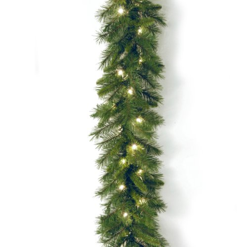 National Tree Company Pre-lit Artificial Christmas Garland | Includes Pre-strung Lights | Winchester Pine - 9 ft