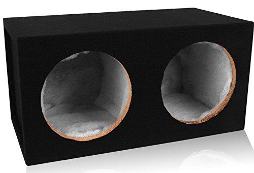 Belva Dual 10-inch Car Subwoofer Box Sealed 3/4-inch MDF Prelined Polyfil