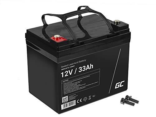 Green Cell Recambio de Batería Gel AGM 12V 33Ah Rechargeable Pila Sellada de Plomo ácido batería sin Mantenimiento Batería de Reemplazo para Autocaravanas Barcos Camper Fotovoltaica ✅