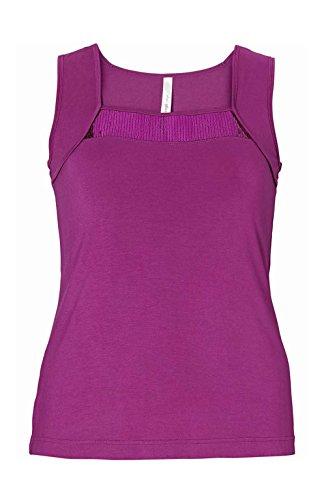Sheego Damen-Top Top mit Pailletten Violett Größe 50