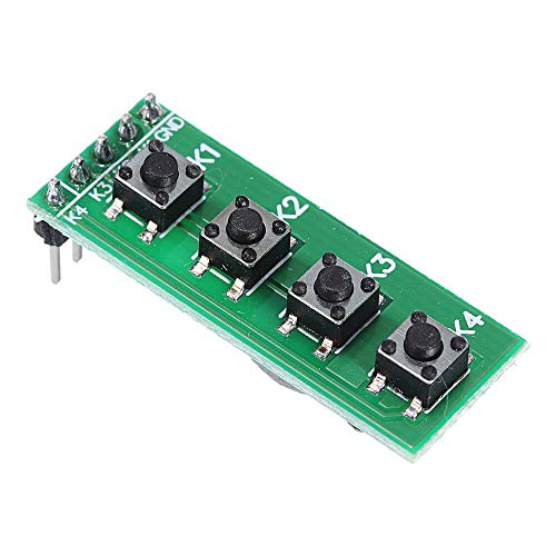 TB371 4 Key MCU Keyboard Button Board Compatible UNO MEGA2560 Pro Mini Nano Due for Raspberry Pi Teensy++ Geekcreit for A-r-d-u-i-n-o - products that work with official for A-r-d-u-i-n-o boards 30pcs