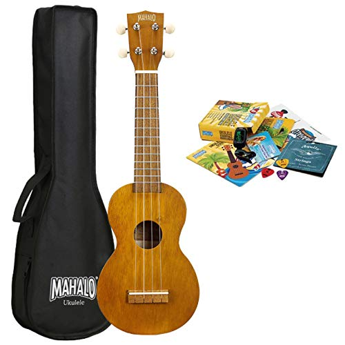 Mahalo Kahiko 'Learn 2 Play' Soprano Ukulele with Essentials Pack -...