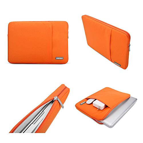 Waterproof and Anti Fall Laptop Sleeve Bag case Cover Pouch Skins for MacBook Air Pro Rtina Touch Bar 11/15/17 inch-Orange_for MacBook 11 inch