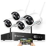 HeimVision 1080P 8CH Wireless NVR Überwachungskamera Set, 4x1080P Kabellose Outdoor Außen Überwachungskamera