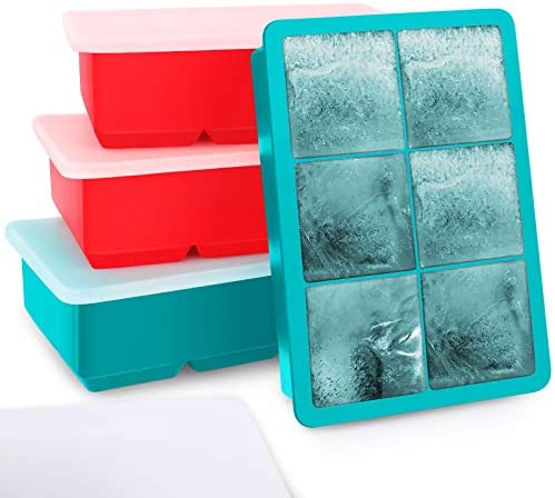 Kootek Ice Cube Trays 4 Pack Silicone Ice Tray for Making 24 Pcs Large Ice Cubes Easy Release product image