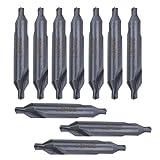 Broca central tipo A, larga vida útil Broca central HSS de 10 piezas, afilado resistente al desgaste para fresadoras Taladros de banco de centrado Centros de mecanizado