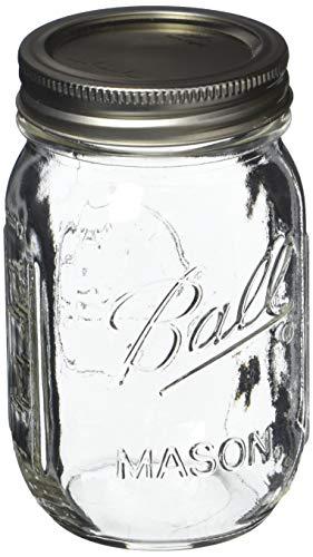 Ball Pint Mason Jar, Regular Mouth, 16 oz (3 Count)